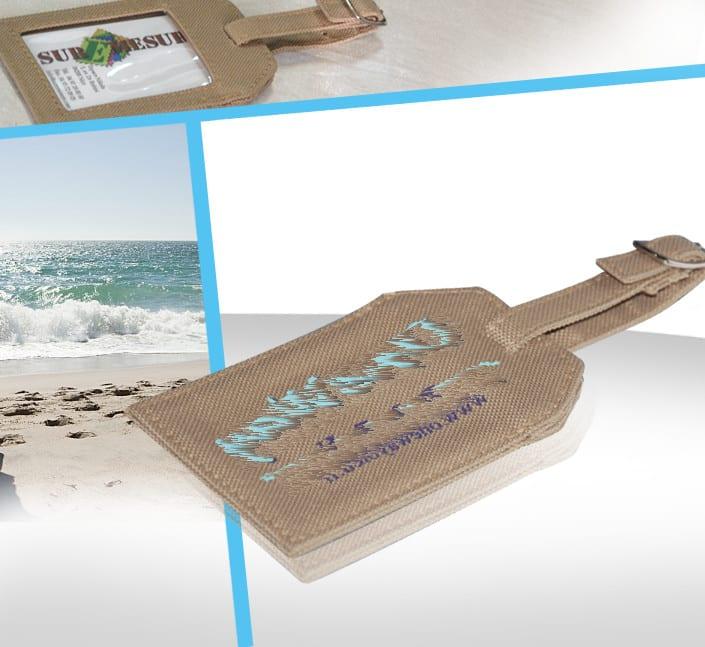 Frabricant de porte-etiquette bagage avec logo brodé