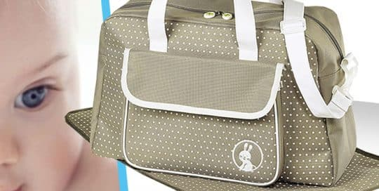 Sac a langer polyester broderie bicouleur