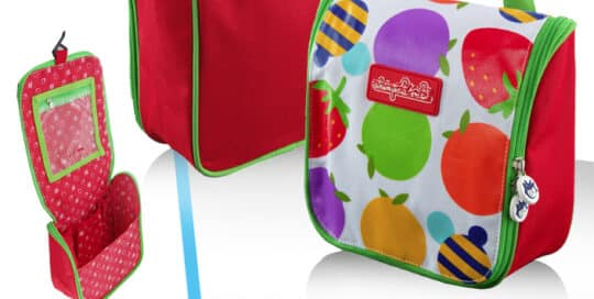 trousse de toilette enfant polyester fruits