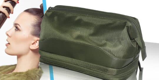 Fabricant de trousse cosmetique bi matiere kaki