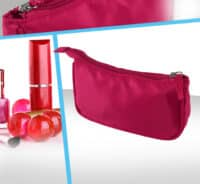trousse cosmetique rose bonbon