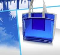 sac transparent curistes PVC bleu et 600D