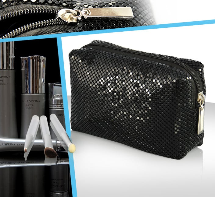 Fabricant de trousse cosmetique sequin brillant
