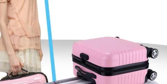 valise cabine coque dur rose clair