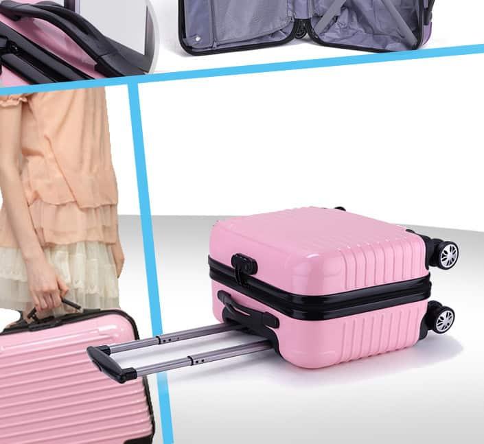 Fabricant de valise cabine coque dur rose clair