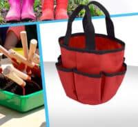 Panier polyester range outils jardinage enfant