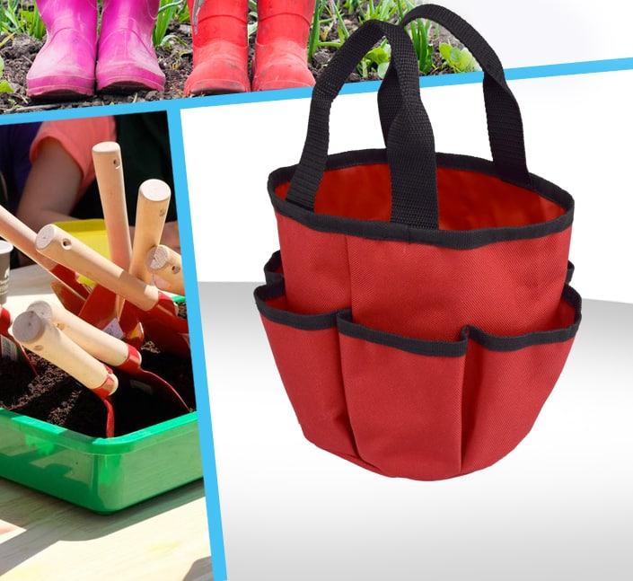 Fabricant de Panier polyester range outils jardinage enfant