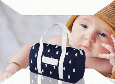 Sac à langer bébé suremesure personnalisable