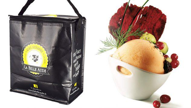 Notre savoir faire dans la création de sacs isotherme personnalisés vous permettra de proposer à vos clients, un sac efficace et original. Nous adapterons les matériaux à votre image, une matière luxe pour le caviar, une toile écologique pour vos produits bio. Votre sac isotherme véhiculera une bonne image de marque.