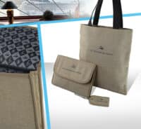collection bagagerie coton jute marquage logo broderie tourisme