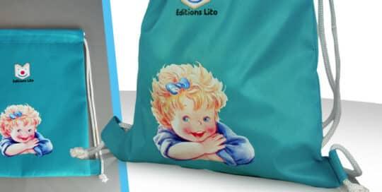 sac a dos publicitaire enfant nylon transfert
